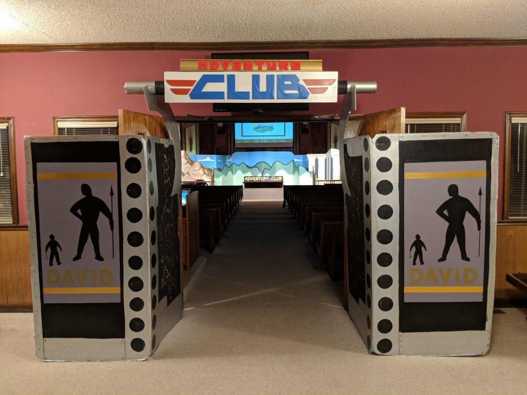 Bible Adventure Club Kids Entrance
